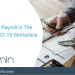 HR manager managing payroll in the workplace