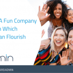 Happy employees in fun company culture