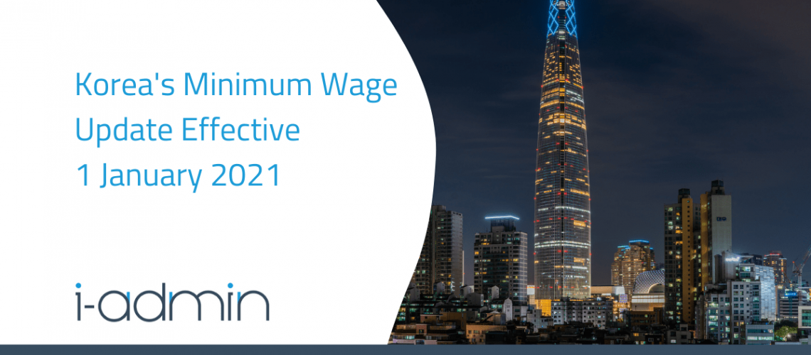 Korea Statutory Update – Minimum Wage Update in 2021